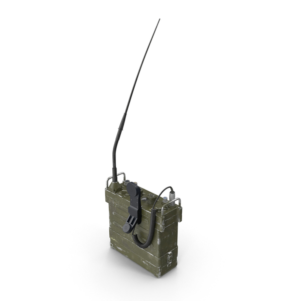 Radio: AN/PRC-77 Portable Transceiver (Communications Radio) PNG & PSD Images