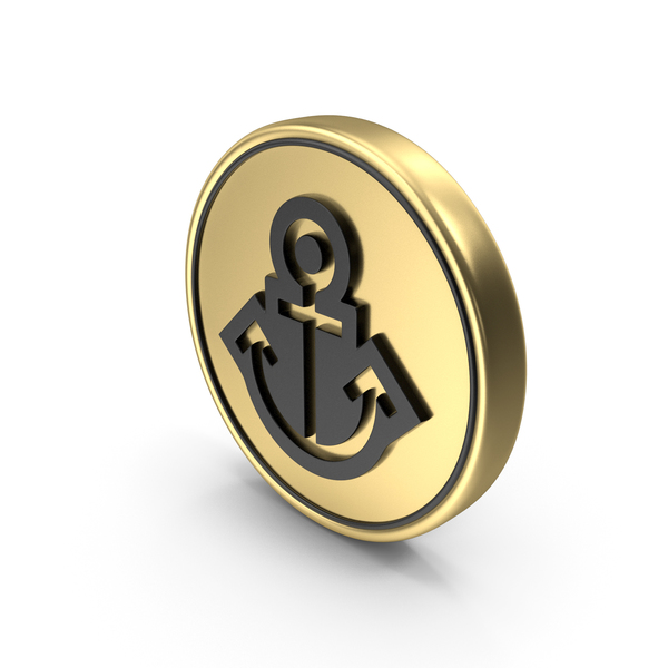 Anchor Coin Logo Icon PNG & PSD Images