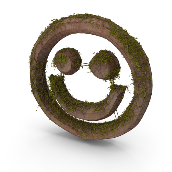 Ancient Stone with Ivy Smiley Emoji PNG & PSD Images