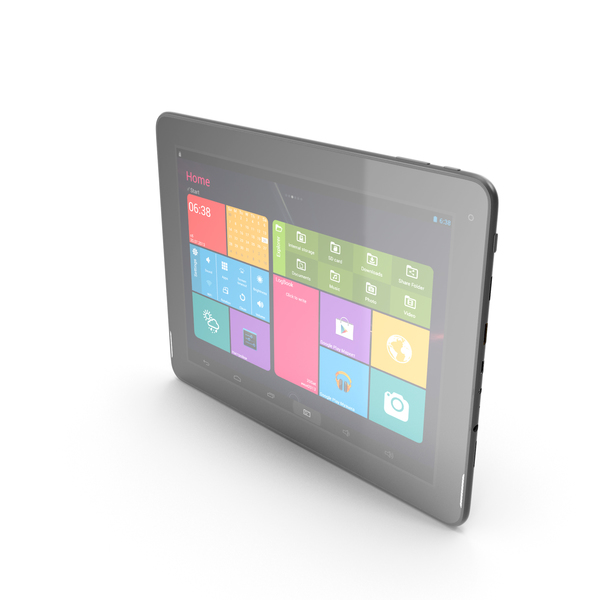 "Android black PC Tablet 9.7"" PNG & PSD Images"