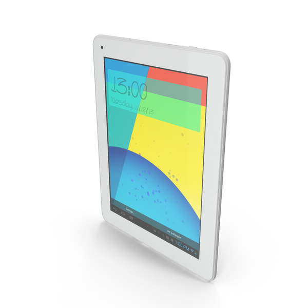 "Android Silver PC Tablet 10"" PNG & PSD Images"