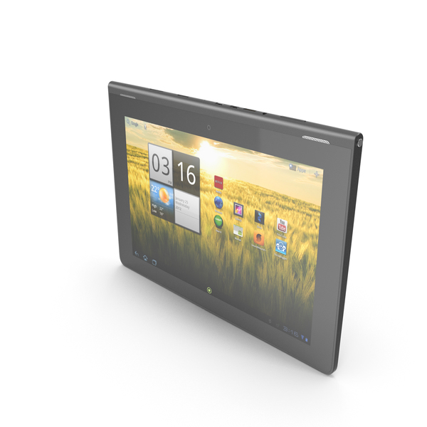 """Computer: Android slim PC Tablet 10"""" PNG & PSD Images"""