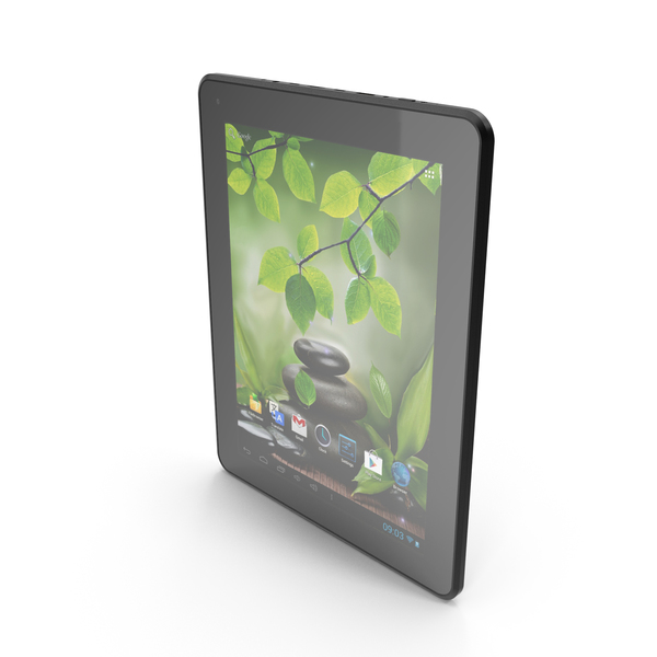 Android white PC Tablet 10 PNG & PSD Images