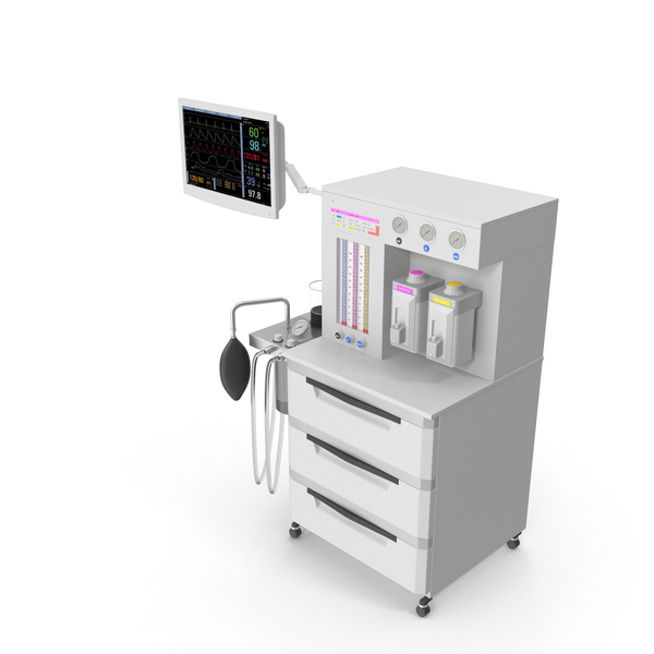 Anaesthetic: Anesthesia Machine PNG & PSD Images