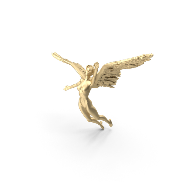 Angel - Female Figure - Gold PNG & PSD Images