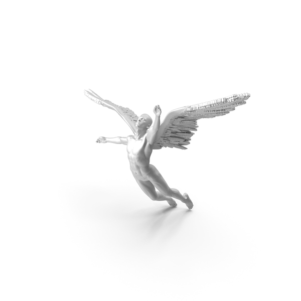 Angel - Male Figure - Tin PNG & PSD Images