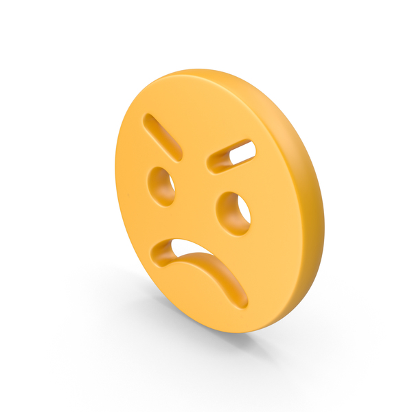 Facial Expression: Anger Emoji PNG & PSD Images
