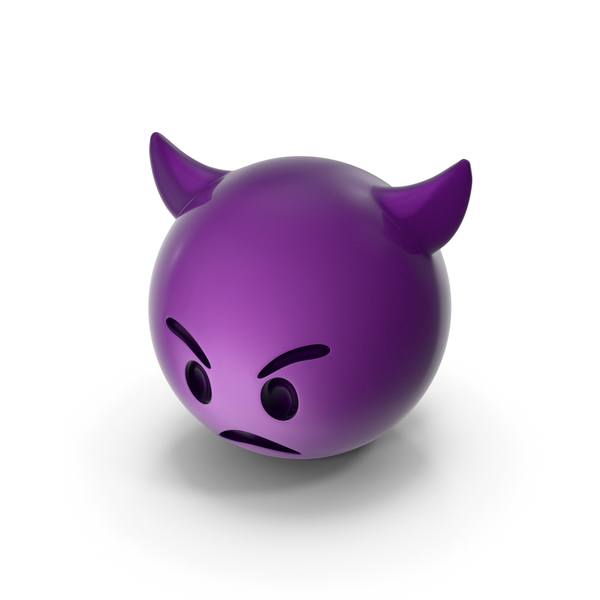 Angry Devil Emoji PNG & PSD Images