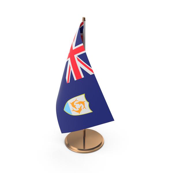 Flag: Anguilla Desk Flag. PNG & PSD Images