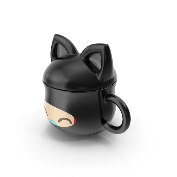 Anime Cat Mug PNG & PSD Images