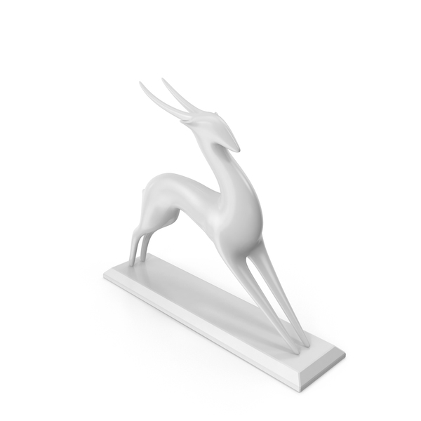 Antelope Sculpture PNG & PSD Images