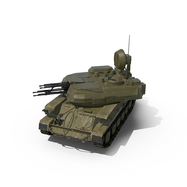 Anti Aircraft Tank ZSU 23 Shilka PNG & PSD Images