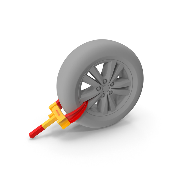 Anti Theft Tyre Parking Lock PNG & PSD Images
