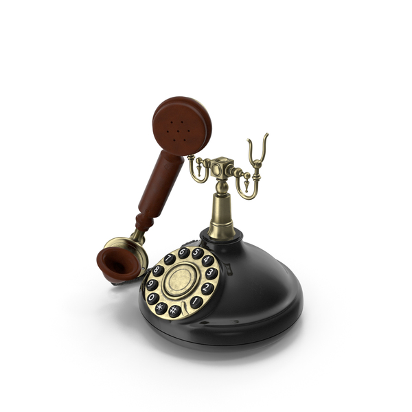 Rotary Phone: Antique 1920's Telephone PNG & PSD Images