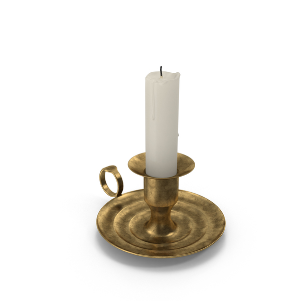 Antique Brass Candle Holder PNG & PSD Images