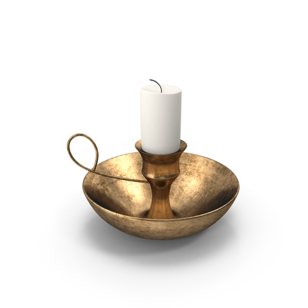 Candlestick Holder: Antique Candleholder PNG & PSD Images