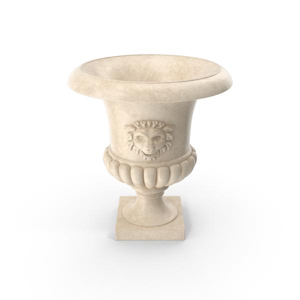 Antique Cast Garden  Urn Object
