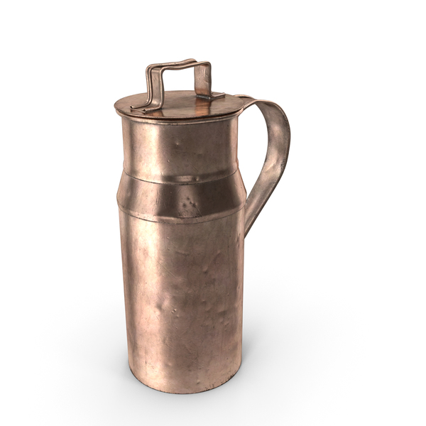 Antique Copper Milk Can 19th Century PNG & PSD Images