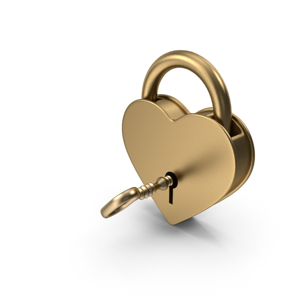 Antique Gold Padlock and Key PNG & PSD Images