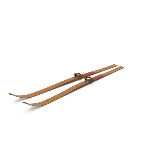 Antique Long Skis PNG & PSD Images