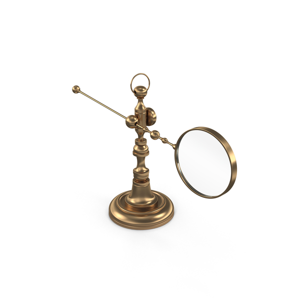 Antique magnifying glass on the holder PNG & PSD Images