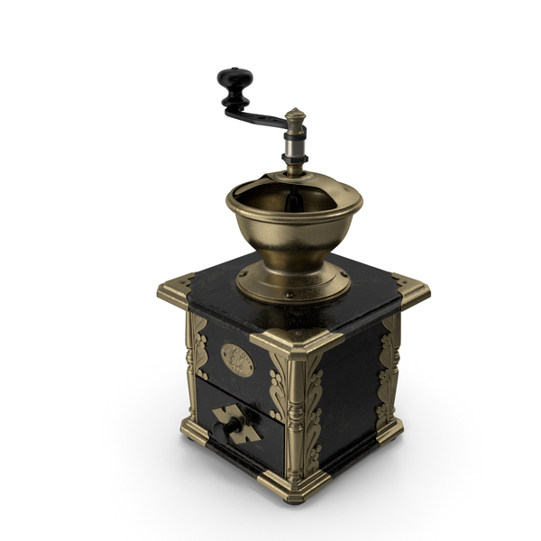 Antique Manual Coffee Grinder PNG & PSD Images