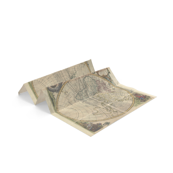 Antique Map Object