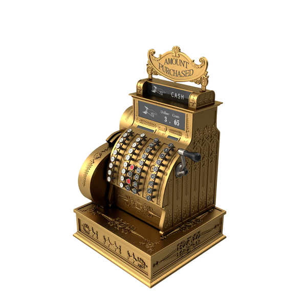 Antique National Cash Register PNG & PSD Images
