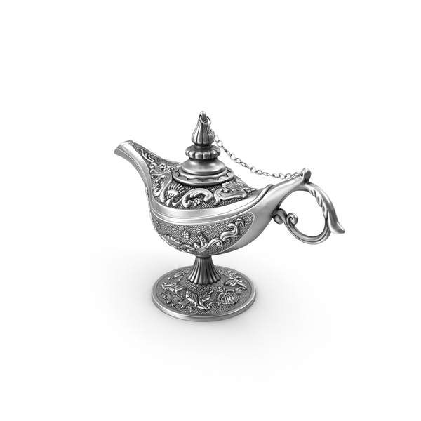 Oil: Antique Silver Magic Lamp PNG & PSD Images