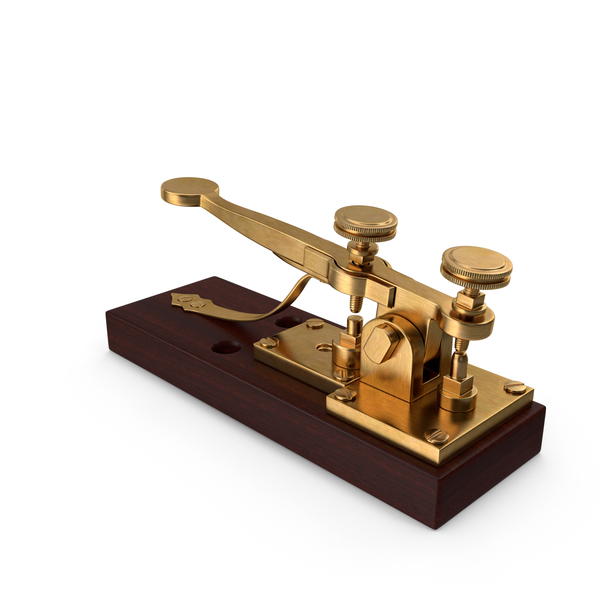 Antique Telegraph Key PNG & PSD Images