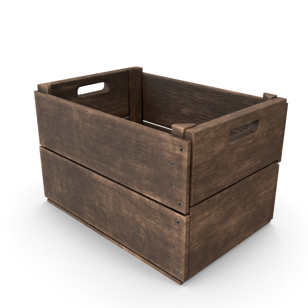 Antique Wooden Crate PNG & PSD Images