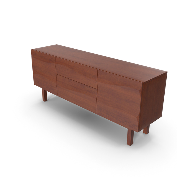 Apex II Walnut Sideboard PNG & PSD Images
