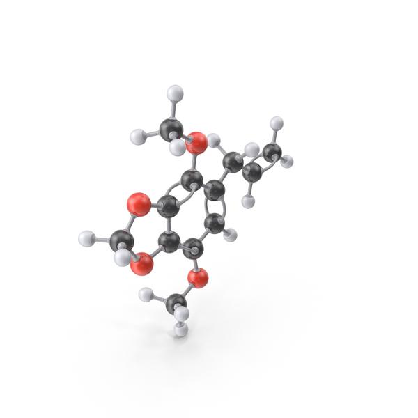 Apiole Molecule PNG & PSD Images