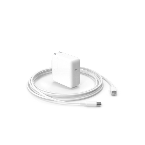 Apple 30W Type C Power Adapter with Cable PNG & PSD Images