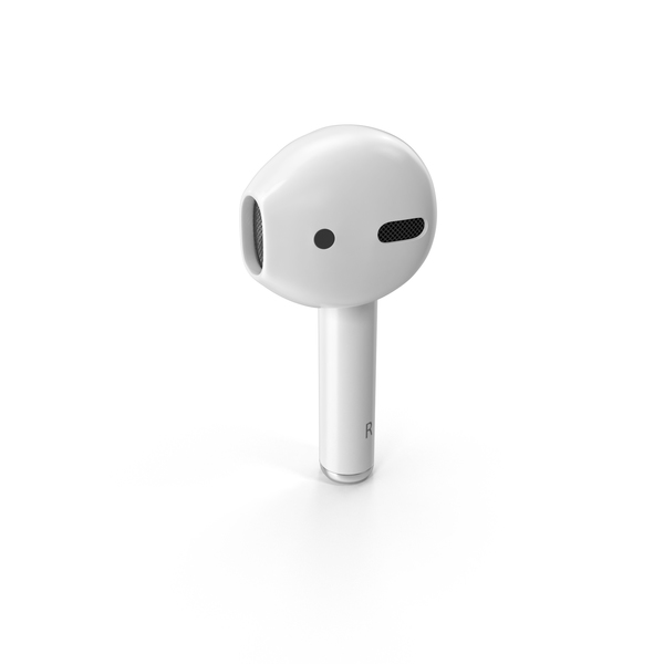 Earphones: Apple AirPods Right Bud PNG & PSD Images