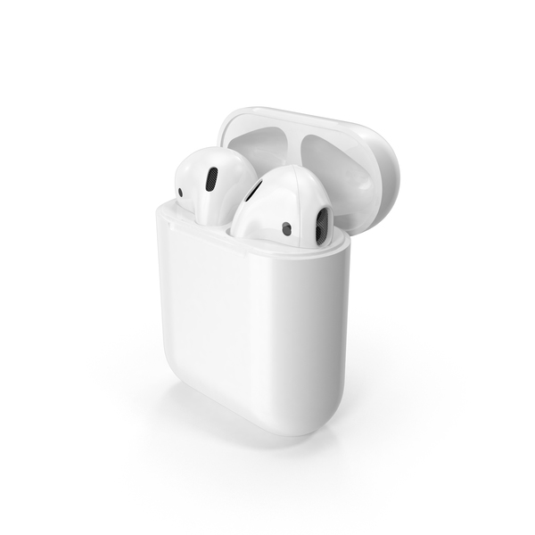 Earphones: Apple AirPods Set PNG & PSD Images
