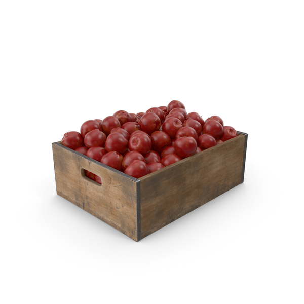 Apple Fruit Crate PNG & PSD Images