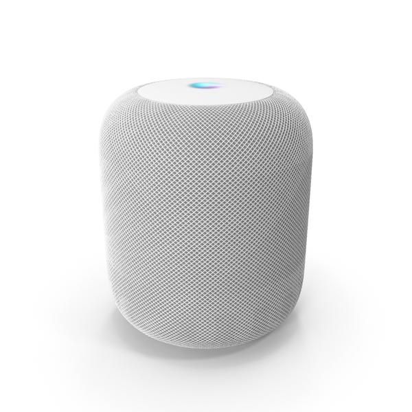 Mini: Apple HomePod Smart Speaker White PNG & PSD Images