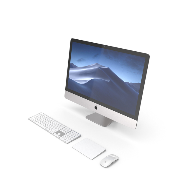 Desktop Computer: Apple iMac 2018 Silver PNG & PSD Images