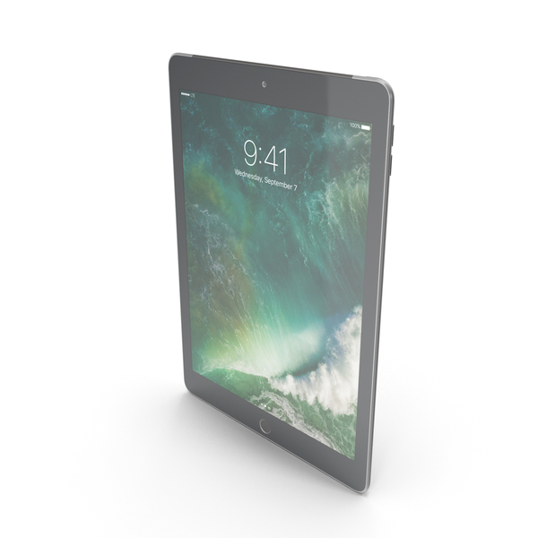 Apple iPad 9.7 (2017) WiFi + Cellular Space Gray PNG & PSD Images