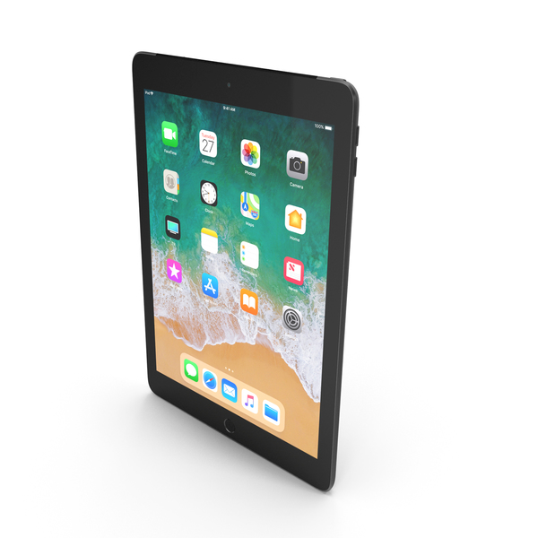 Apple iPad 9.7 2018  Space Gray PNG & PSD Images