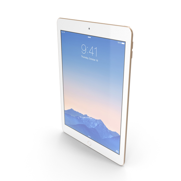 Tablet Computer: Apple iPad Air 2 Gold PNG & PSD Images