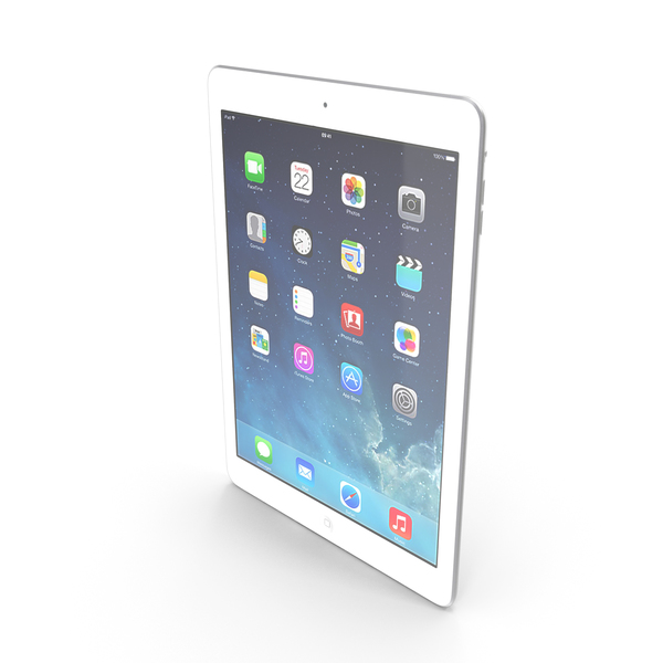 Apple iPad Air Silver PNG & PSD Images
