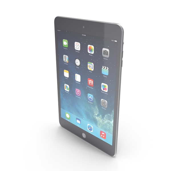 Apple iPad mini 2 Space Gray PNG & PSD Images