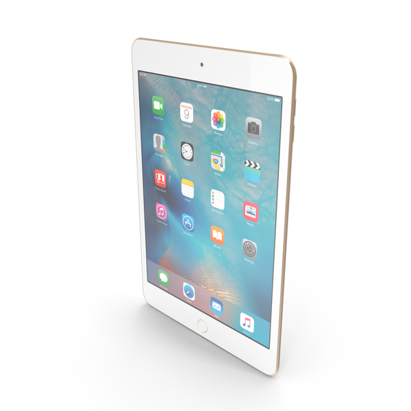 Apple iPad Mini 4 Gold PNG & PSD Images