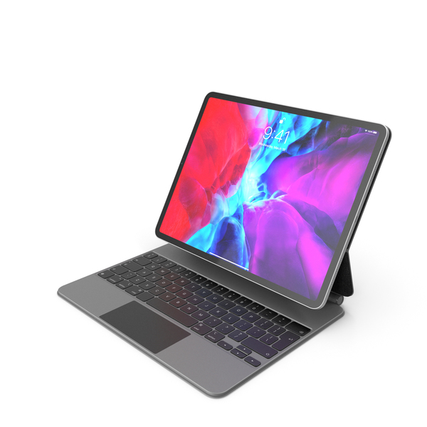 Apple iPad Pro 12-inch and Magic Keyboard 2020 PNG & PSD Images