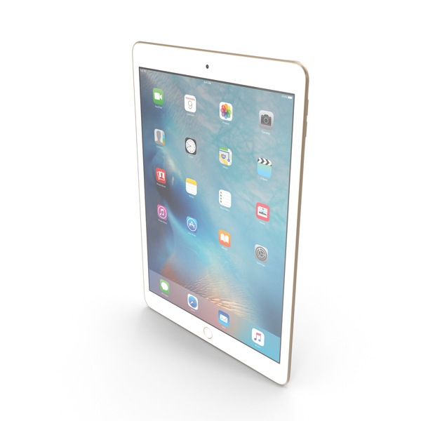 Apple iPad Pro 9.7 Gold PNG & PSD Images