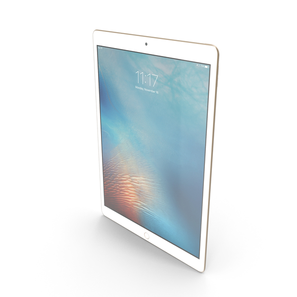 Apple iPad Pro Gold PNG & PSD Images