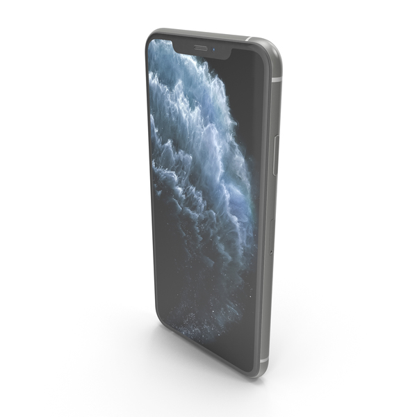 Apple iPhone 11 Pro Max Silver PNG & PSD Images
