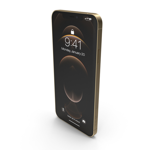 Apple iPhone 12 Pro Max Gold PNG & PSD Images